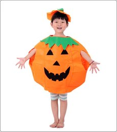 Wholesale 2015 Fantasia Halloween Costumes For Chindren Cute Pieces Pumpkin Costumes Hat Cosplay Performance Party Theme Costume