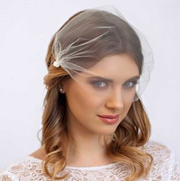 Wholesale 2015 Birdcage Wedding Birdcage Veils T Pearl Net Bridal Veils Headpiece Short Wedding Veils Hair Accessories