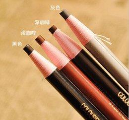 Wholesale 10 Dozen Stay eyebrow pencil No shading easy coloring Eyeliner makeup Eye pencil Waterproof eyebrow pencil