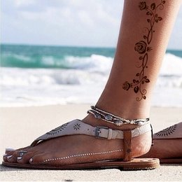 Wholesale 1Pc Arabia Rose Pattern Gold and Silver Tattoo Stickers Temporary Tattoos CM GT058