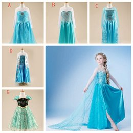 Elsa queen girls dress Long Sleeve princess frozen girl party dress Paillettes children Costume clothing kids Formal clothes Elsa Anna Dress