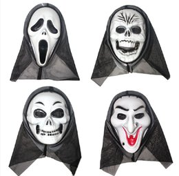 Wholesale Hot sell devil Halloween mask scream Exclaimed a face mask skull Monolithic horror ghost masks male costume party Halloween mask