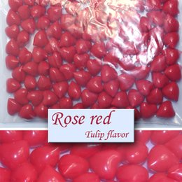 Wholesale Hot OEM g Red Heart shaped Bath Oil Beads Tulip Fragrance Bath Pearls Bath SPA Beads