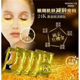 Wholesale KOOGIS in Gold Crystal Collagen Eye Mask Hot Sale Collagen Eye Patches