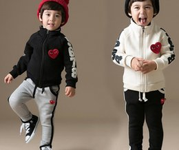 Wholesale 2014 New Kids love cotton casual clothing suit children outfit set