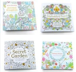 Lost Ocean Secret Garden Una caza de tesoro de tinta y libro para colorear para los niños aliviar el estrés Matar el tiempo Graffiti dibujo libro de dibujo 100pcs