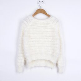 Wholesale 2015 Casual Winter Mohair Sweater Women Sweaters and Pullovers Side Split Knitted Pullover Womens Jumpers