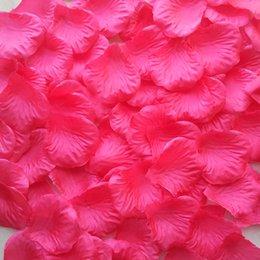 Wholesale Wholesales packs Fuchsia Rose Simulation Silk Petals for Wedding Decoration cm RP