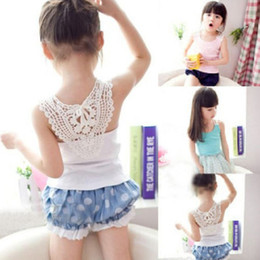 Wholesale Baby Girls Candy Color Summer Sleeveless vest Tops Tank Top Blouse Shirt Clothes