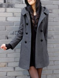 Womens Grey Pea Coat
