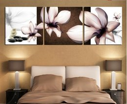 Wholesale 3 large rose flowert art wall painting Pure hand painted on canvas Home Decoration canvas art painting