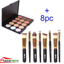 Wholesale 15 Colors Contour Face Cream Makeup Concealer Palette Professional Professional Foundation Cosmetic Makeup Brush set Kit
