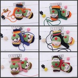 Wholesale House kids offer Warm Mittens Child Knit Gloves Cartoon Gloves Children Gloves Mittens Winter Boys Girls Kids Baby Warm Gloves Kid Wool Glov