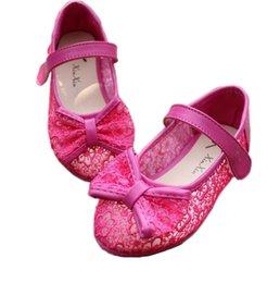 Wholesale children princess shoes girl sandals fashion single shoes lace bow flat shoes kids shoes