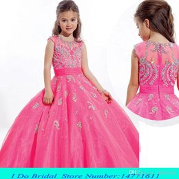 Wholesale 2015 Toddler Beauty Pageant Dresses For Girls Floor Length Pageant Dresses For Teens Size Girls Interview Dresses