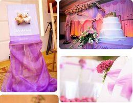 Wholesale 50m purple yarn purple sashes crystal yarn for wedding decoration wide cm