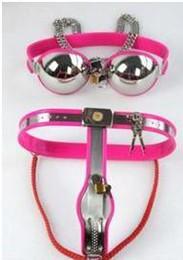 Wholesale Women underwear enforcer Chastity Belt Stainless Steel pant bra love condom g spot vibrator