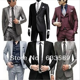 Wholesale New High Quality Fashion Men Suit Brand Men s Blazer Business Slim Clothing Suit And Pants Top Selling