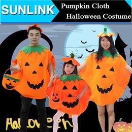 Wholesale 2015 Halloween Costume Mascot Pumpkin Party Dance Performance Clothing Children Adult Clothes Take Piece Orange Pumpkins