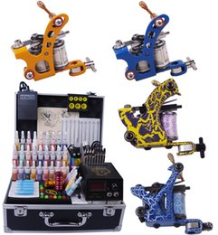 Wholesale Complete tattoo kit Tattoo Machine Guns Tattoo Inks Tattoo Needles Power Supply Beginner Tattoo Kits DHL