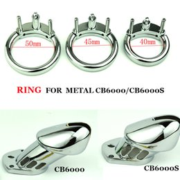 Wholesale 3 Sizes mm mm mm Penis Rings Accessories for Metal Male Chastity Device Cock Ring Clasp for Cock Lock
