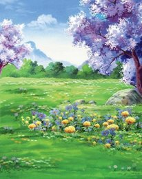 Painted Garden Backdrop Online Painted Garden Backdrop for Sale