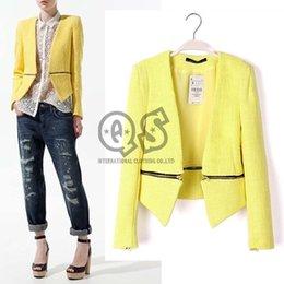 Wholesale 2015 New Winter Women Slim Jacket Zipper Long Sleeve Lady Cardigans Coat Outwear Q182