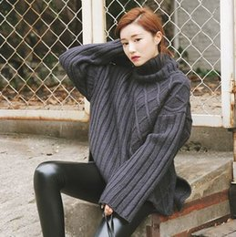 Wholesale Korea official website original order stylenanda personality with paragraph different textures stitching sweater color into