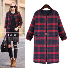 Discount Plaid Trench Coats For Women | 2017 Plaid Trench Coats