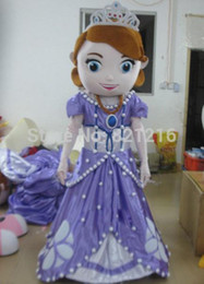 Wholesale real picture high quality Princess Sofia Mascot Costume Adult Sofia The First Mascot Costume