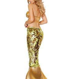 Wholesale Traje de la sirena del sujetador sin espalda rol de la tentación de las lentejuelas del vestido atractivo de la ropa interior de la ropa interior de las mujeres Juegos para Adultos Ropa erótica Coqueteo Use Polyeter