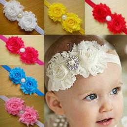 Wholesale Children s hair accessories Headbands baby flowers woven cross hair band headbands cotton elastic cloth baby Hair Sticks