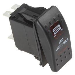 12V 20A Водонепроницаемый красный светодиод Carling Стиль светодиодные Бар Rocker Switch CEC_915