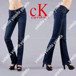 Wholesale hot sell fashion women jeans designer brand leggings ladies pant dark blue Women brand elastic KUQ003
