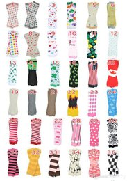 Wholesale 6Pairs Retail Price Baby Chevron Leg Warmer Children Christmas infant leggings Tights Halloween Pumpkin Skull Leg Warmers Adult Arm warmers