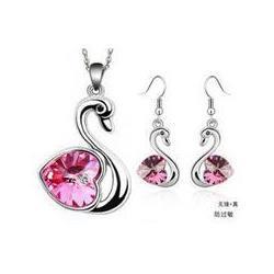 Wholesale Fashion Austria crystal love of Little Swan earring B9