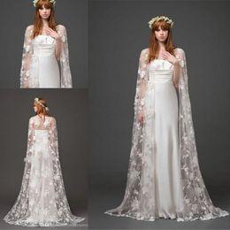 Wholesale Bridal Jackets Boleros Bridal Cape Jacket Floor Length Lace Shawl Cloak Long Bolero Shawl Coats Bridal Accessories Wedding Events Wraps