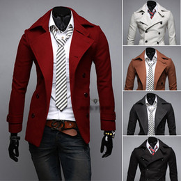 Men Red Peacoat Online | Men Red Peacoat for Sale