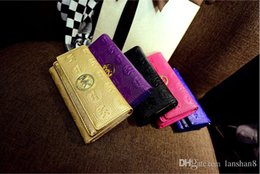Wholesale Bridal Gloves Real Gloves Dress Long Satin The New Double Cover Embossing Miss Qian Bao Section of Triple Clutch Wallet Korean Fashion