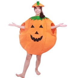 Wholesale Adult Halloween Festival Party Smiling Face Print Masquerade Prop Lady Man Carnival Mascot Suit Clothing Pumpkin Clothes Pumpkins Hat
