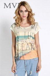 Wholesale Venta caliente mujeres de la camiseta de algodón Casual Gráfico manga corta verano vintage Camiseta con estampado de Tops Tipos
