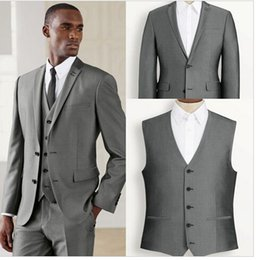 Wholesale black and white blazer New Arrivals Polyester Groom Tuxedos Men Suit Slim Fit Tuxedo Denim Jacket R0037