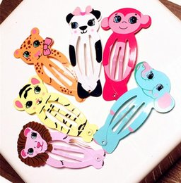 Wholesale Kawaii Snap clips for children animal series cartoon clips hair clips barrettes children girls hair accessories