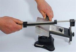 Nuevo llega Actualización Profesional Sistema afilador de cuchillos de cocina Fix-ángulo 4 Piedras Versión II Actualización de Cocina Profesional cuchillo del envío gratis