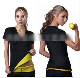 Wholesale S XL Hot Body Shapers T shirt Hot Shapers Stretch Neoprene Slimming Vest Body Shaper Control Vest Tops KB216