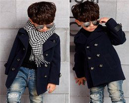 Wholesale Baby Boys Clothing Set For Autumn Winter New Gentleman Kids Suit Children Outfit Sets Cool Long Sleeve Black Coat Pure Cotton Baby Outfits