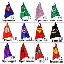 Wholesale kids superman cape superhero cape children boy costume for children halloween party costumes children captain costume capes cloak