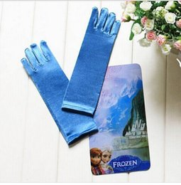 Wholesale Elsa Frozen Cosplay Princess Queen Silvery Accessories Tiara Crown Gloves for T Pair Set