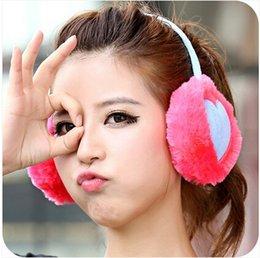 Wholesale Pair Hot Sale Love Winter Earmuffs Girls Plush Multicolor Thermal Protection Earmuffs