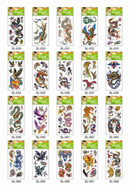 Wholesale 600Pcs DHL Mini Water Transfer Temporary Tattoo Sticker Skull Flower Tiger Eagle Lion Snake Flower Random Cheap